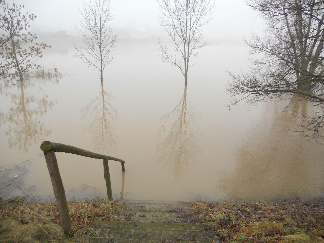 See 3 bei Hochwasser